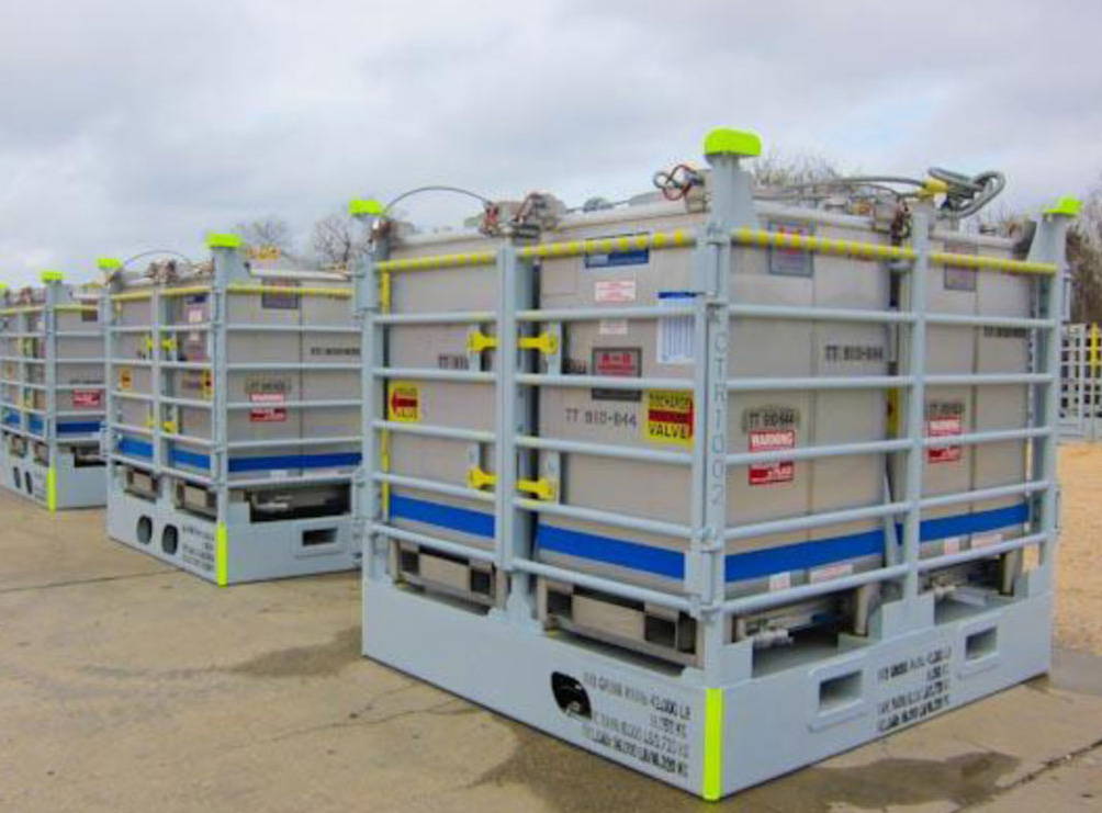TOTE TANK TRANSPORT RACKS